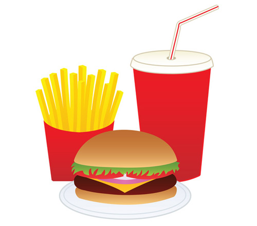 clip drinks clipart drink fries hamburger cliparts fast vector potato computer use designs