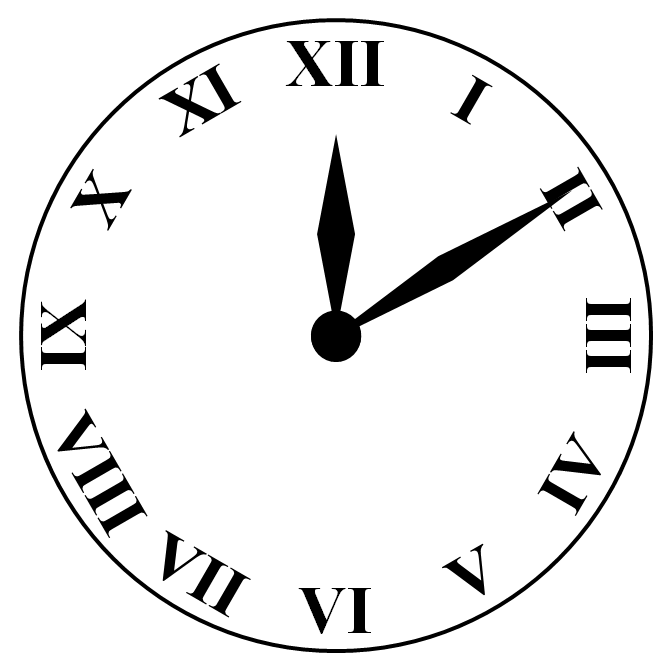 Roman Numeral Clock Face Template Clipart Best