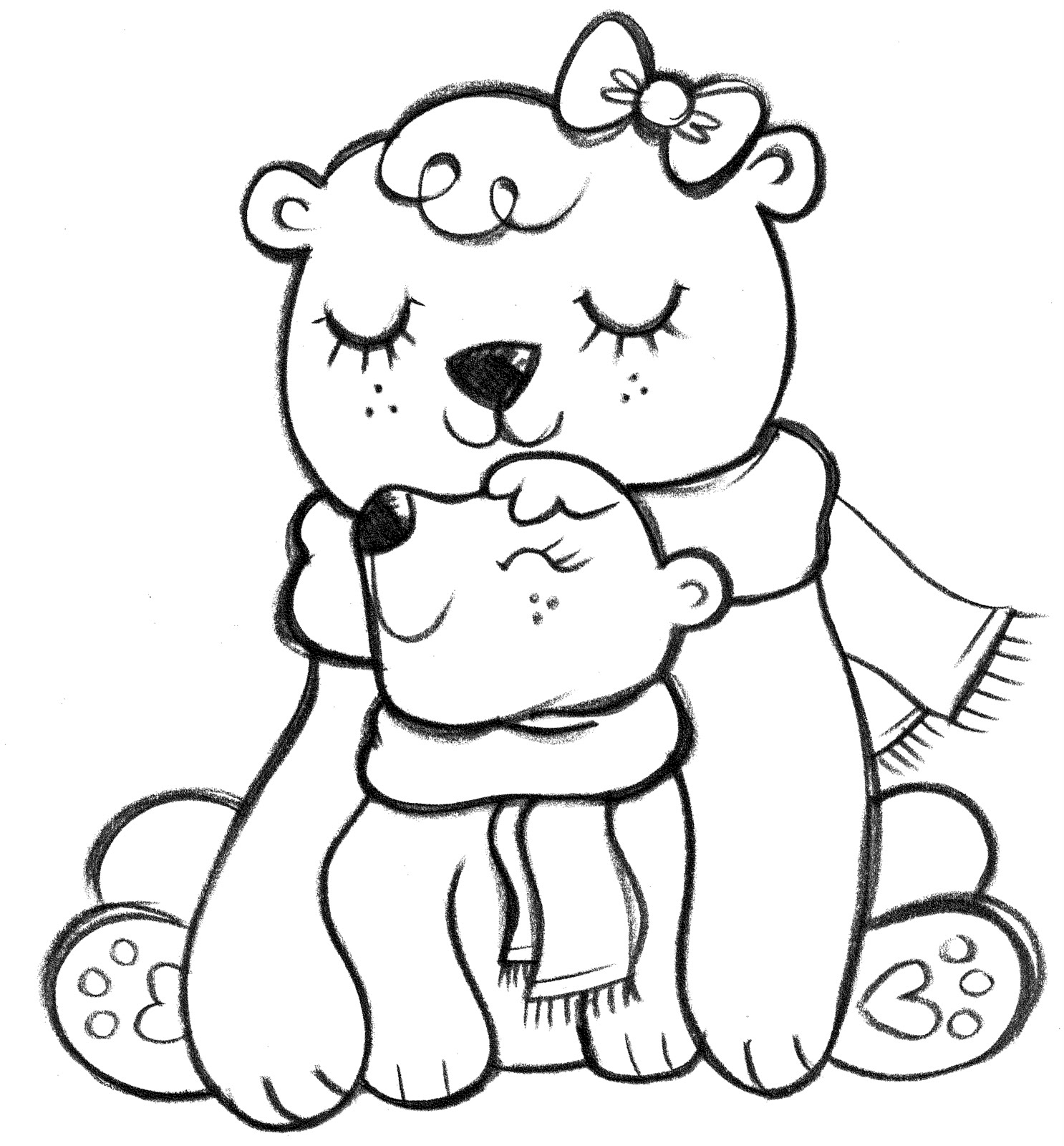 One Line Art Bear : Line drawings of bears images frompo