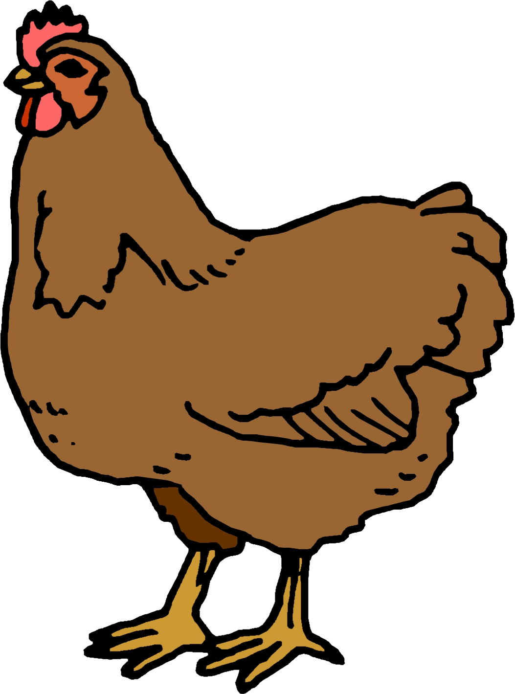 Cartoon chickens clipart best - Clipart poule ...