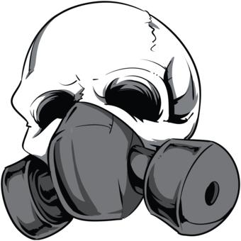 Skull Gas Mask - ClipArt Best