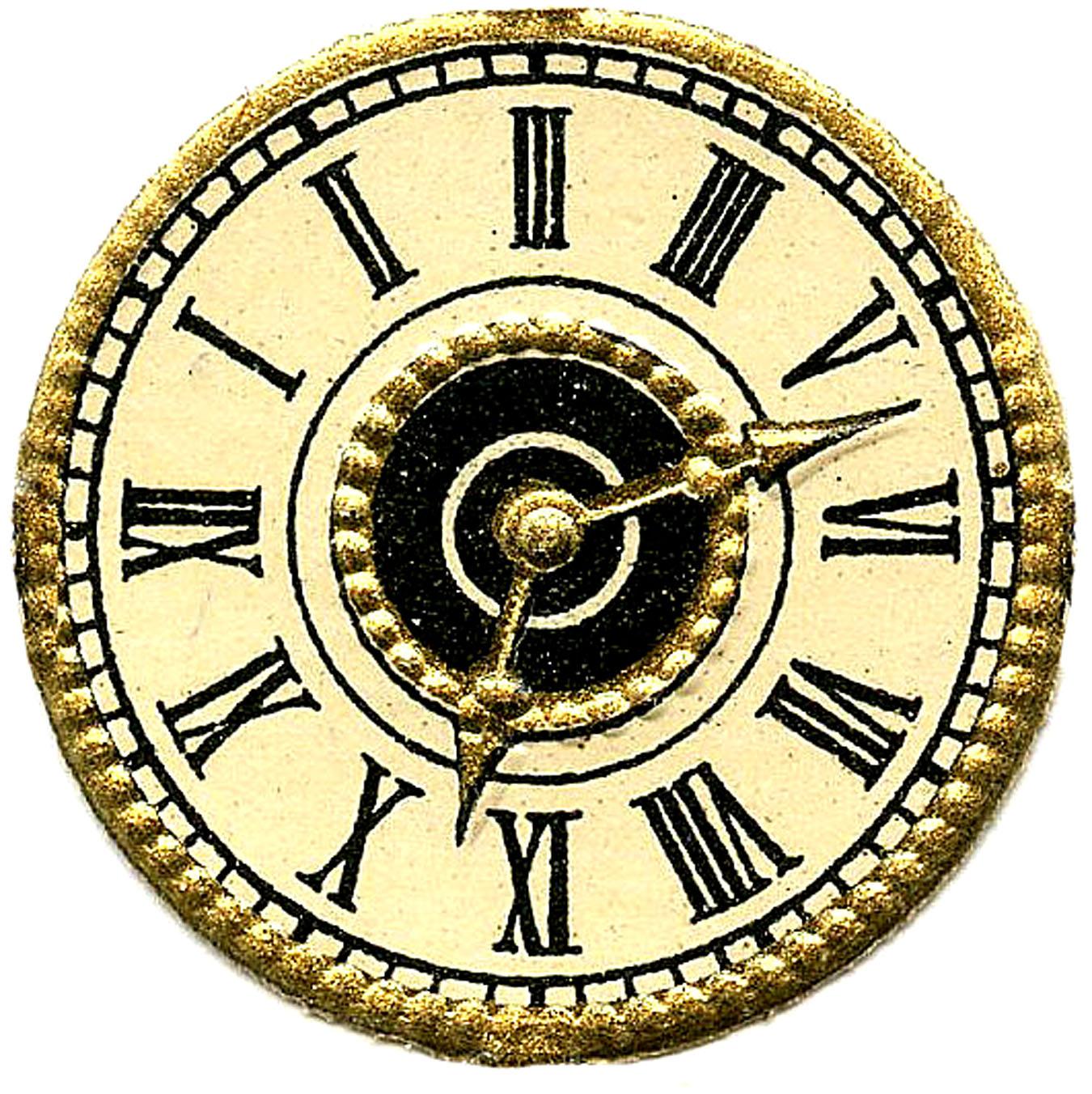 Printable Vintage Clock Faces - ClipArt Best