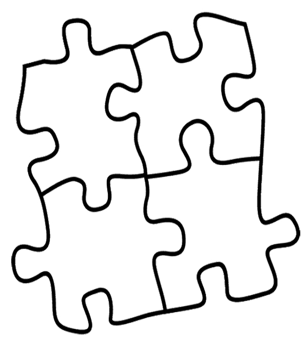 puzzle piece outline coloring pages - photo#5