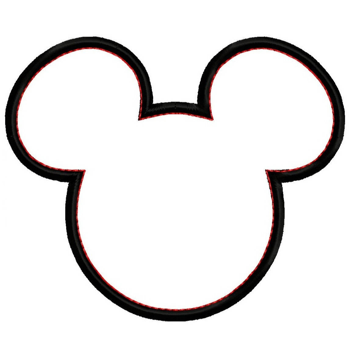 Mickey Head Clipart Mickey mouse head silhouette