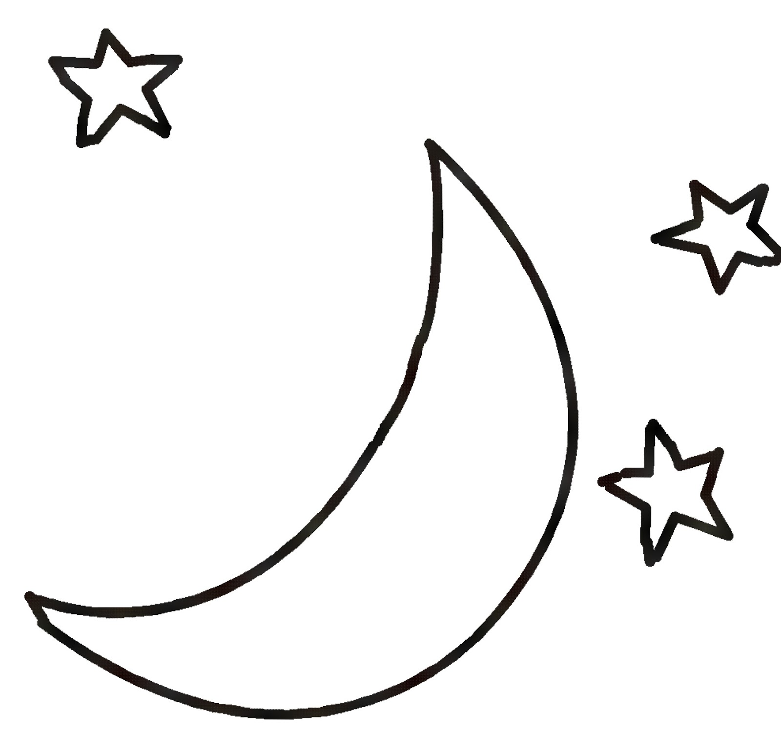 free clip art moon and stars - photo #21