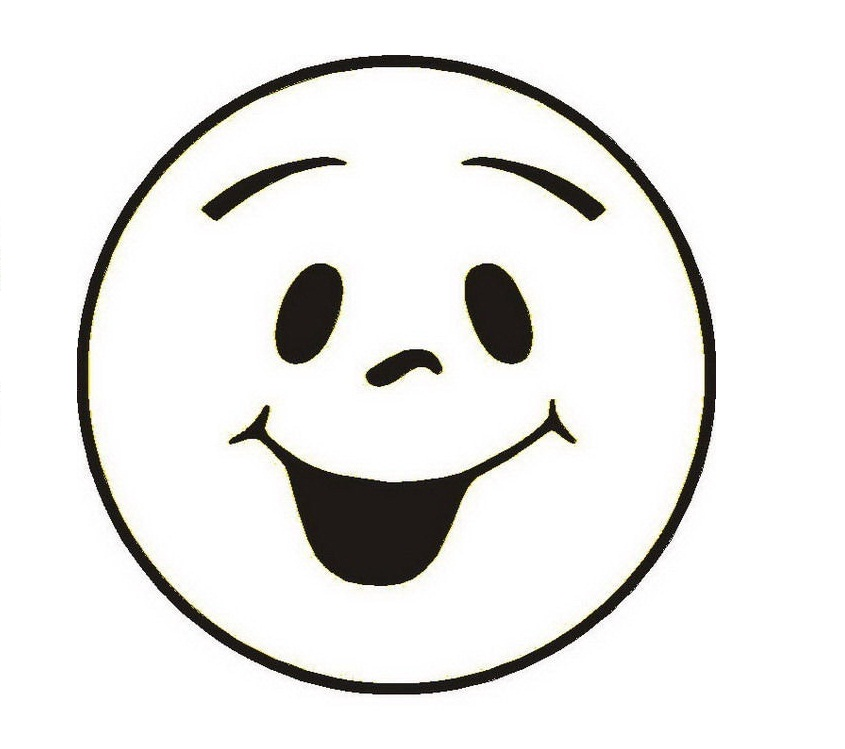 Happy Face Black And White - ClipArt Best