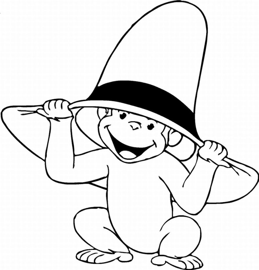 Monkey colouring in clipart best for Spider monkey coloring page