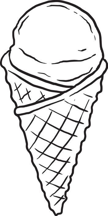 Ice Cream Cone Drawing