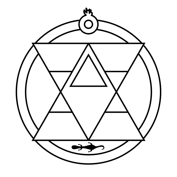 triangle with a circle inside symbol meaning