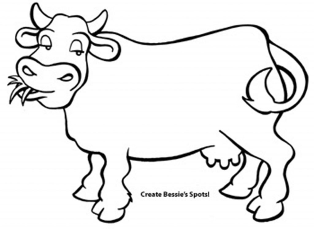 Line Drawing Cow : Line drawing cow clipart best