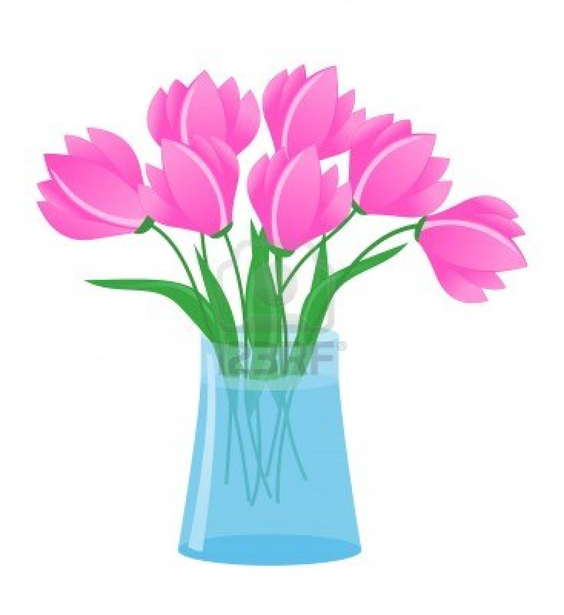 Flowers In A Vase Clipart Flowers in vase stock vectorVase Of Flowers Clip Art