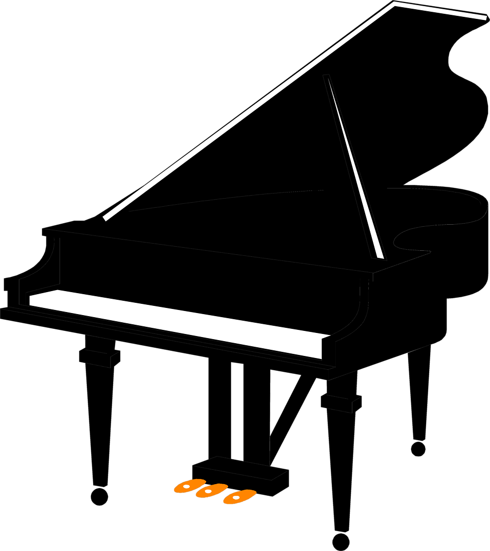 Silhouette Of A Piano - ClipArt Best