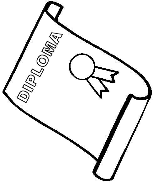 diploma page coloring pages