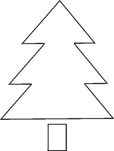Adaptable image in christmas tree pattern printable