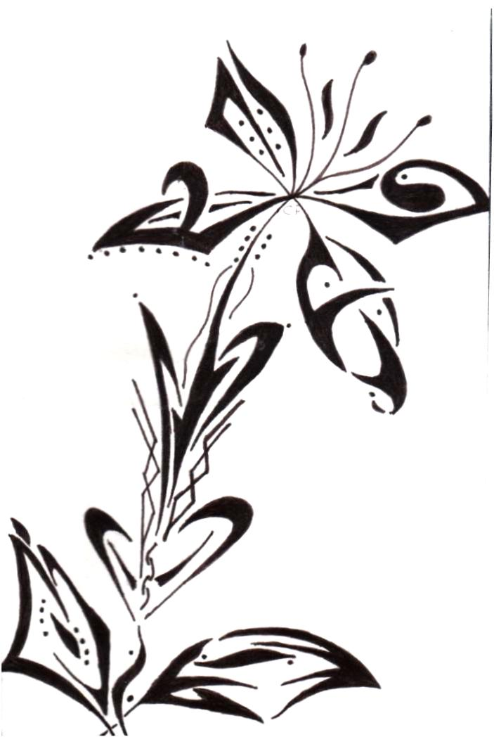 Tribal Flower - ClipArt Best