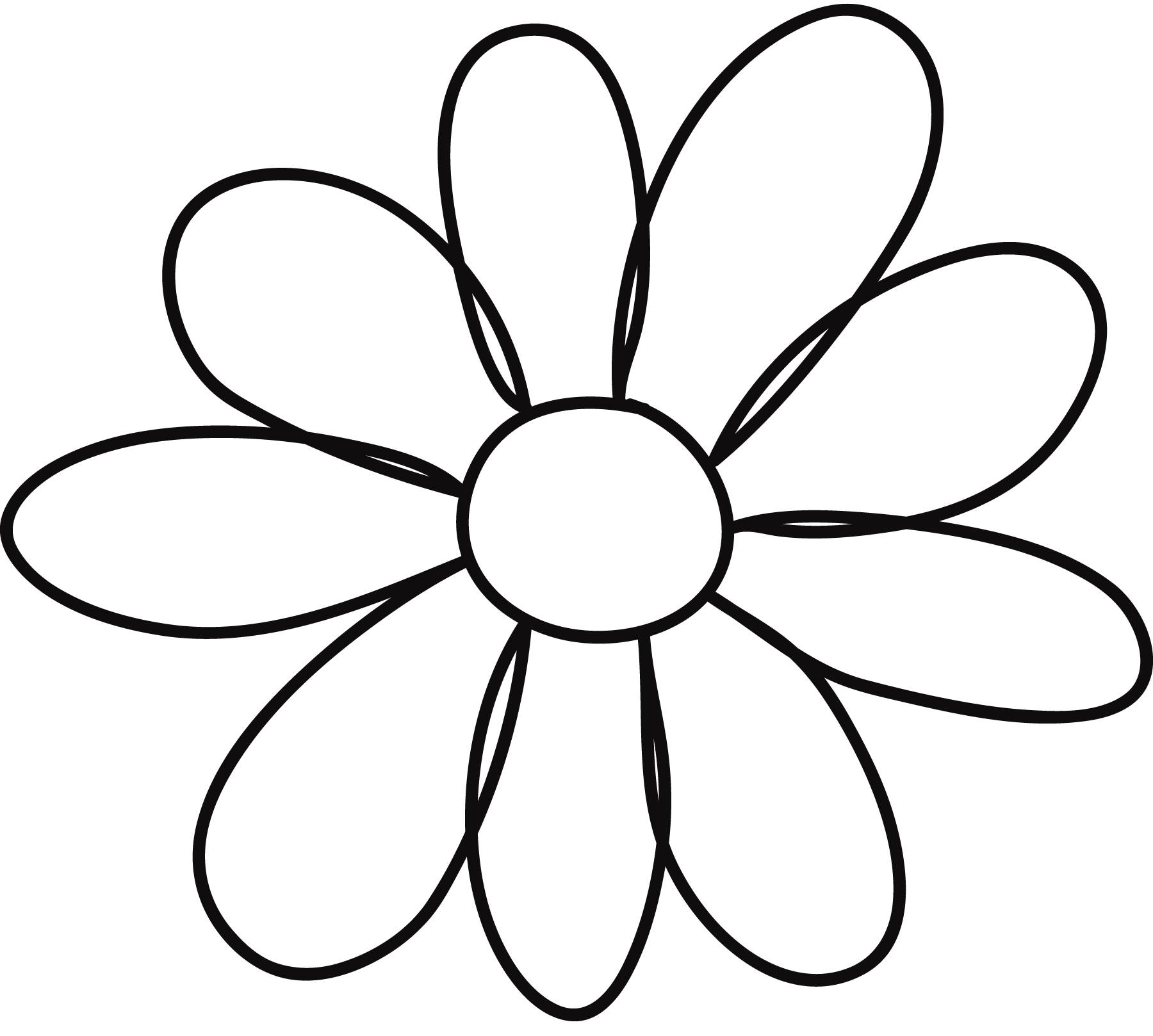 This is a picture of Obsessed Printable Flower Petal Template Pattern