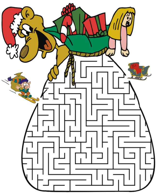 Christmas activities for kids - 15 free printable games and puzzles ...