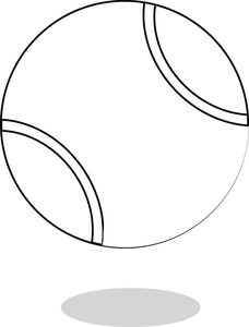tennis ball coloring page - picture of a tennis ball clipart best