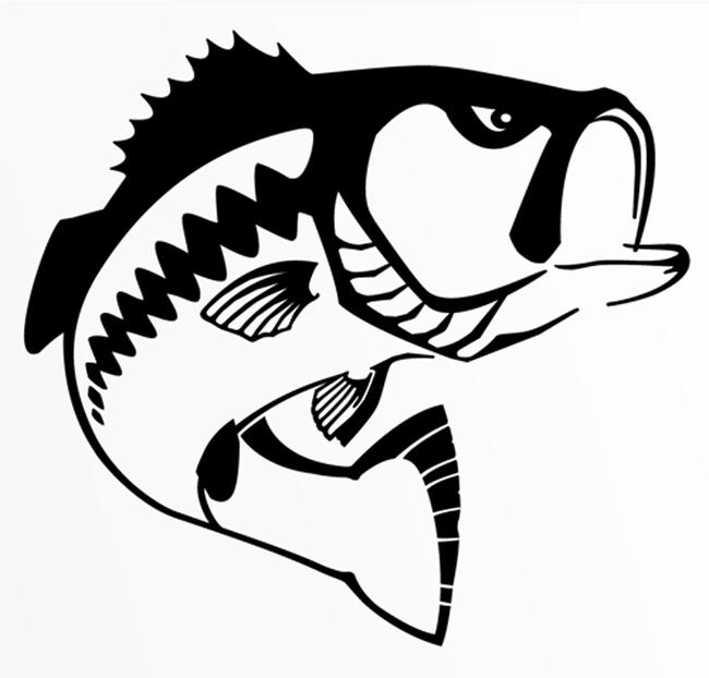 largemouth bass silhouette - photo #23
