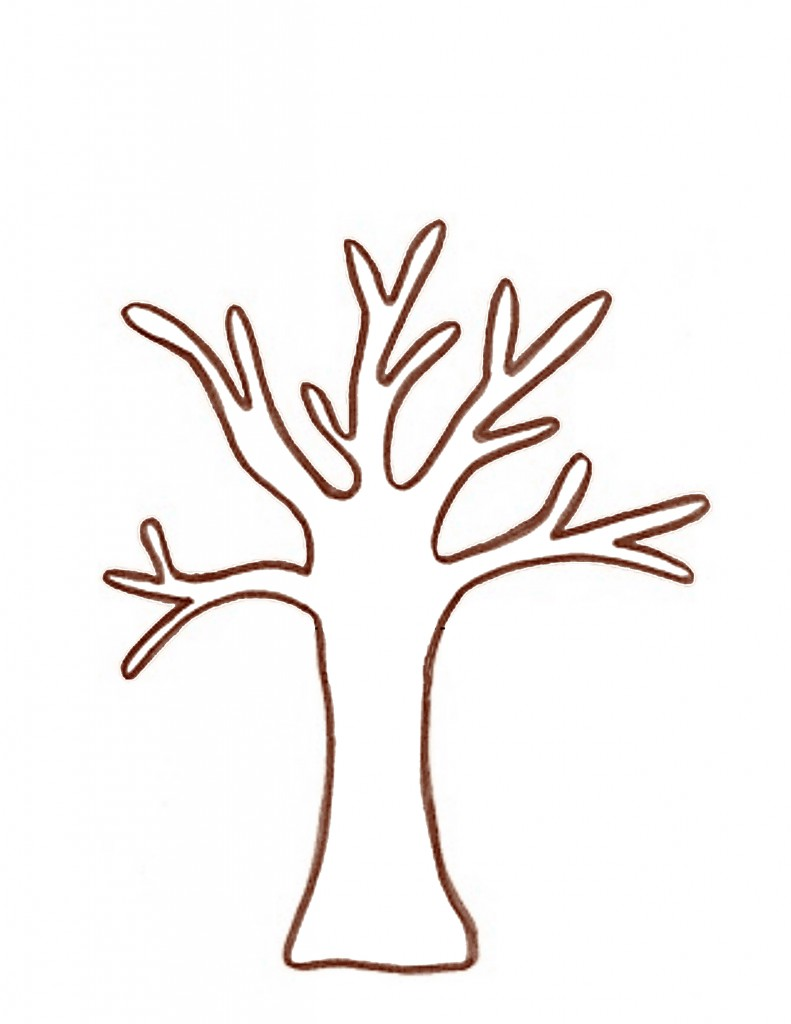 tree branch outline clipart best