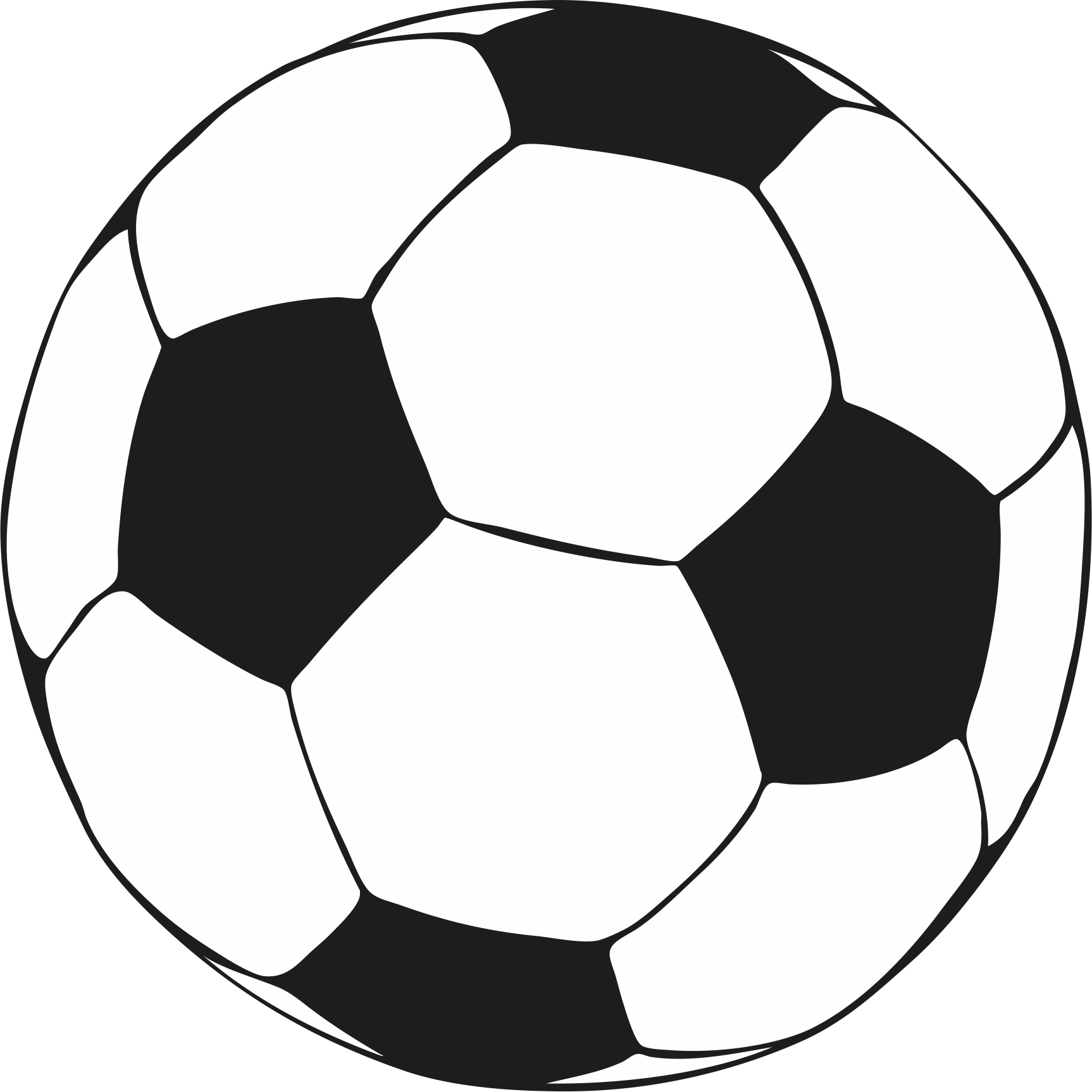 Coloring pages of a soccer ball clipart best for Soccer balls coloring pages