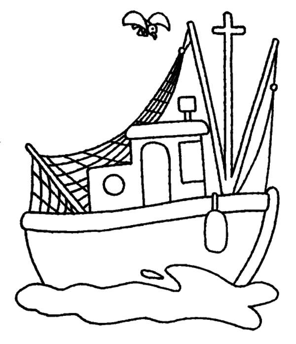 Cartoon Boat Drawing