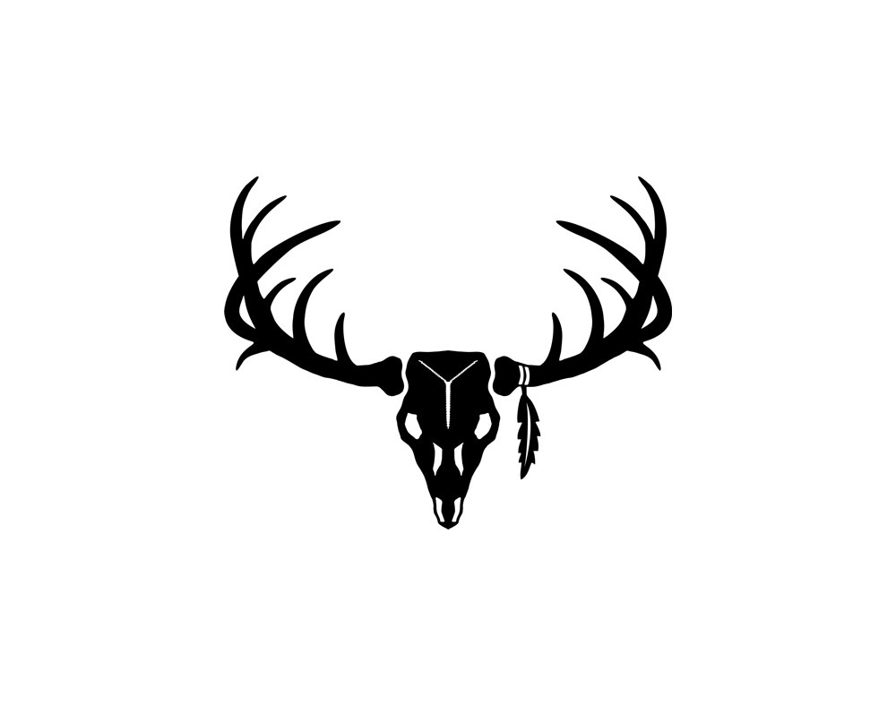 Deer Skull Vector 14782756 moreover Mule Deer Skull Decal  28SM 15 29 also Vector Deer Skull further 121257348155 further Wildlife Stencils. on deer antlers drawing