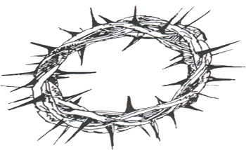 Line Drawing Of A Crown Of Thorns - ClipArt Best