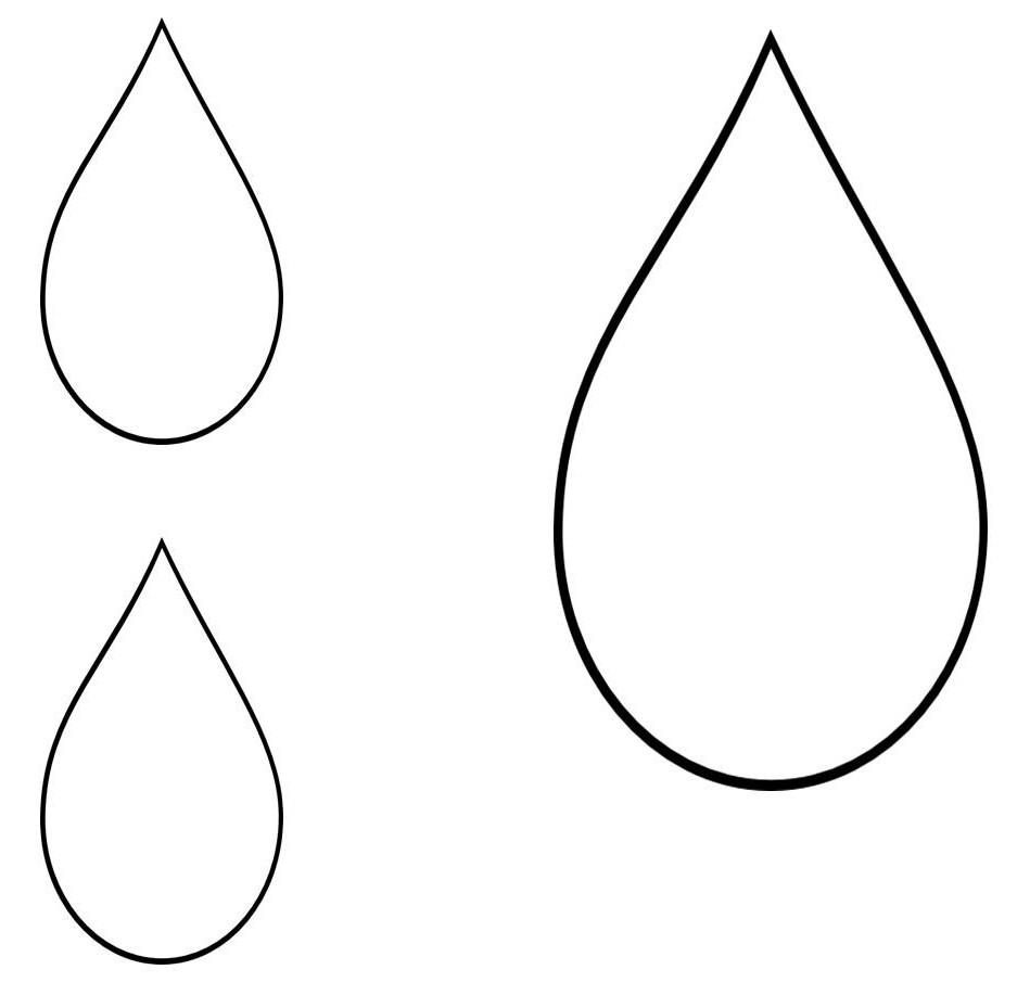 It is a graphic of Slobbery Raindrops Template Printable