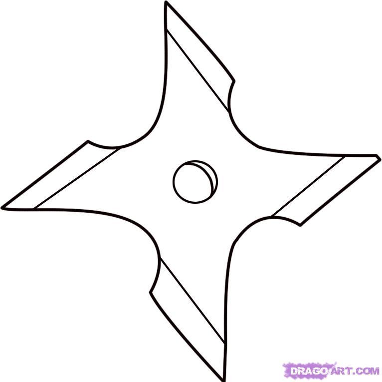 Ninja Star Template - ClipArt Best