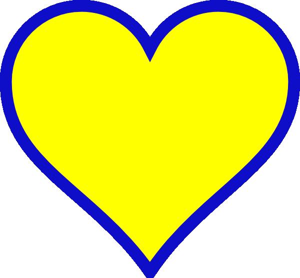 clip art yellow heart - photo #33