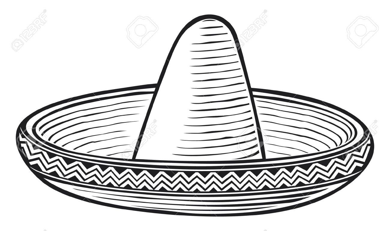 Sombrero Clip Art Black And White - ClipArt Best