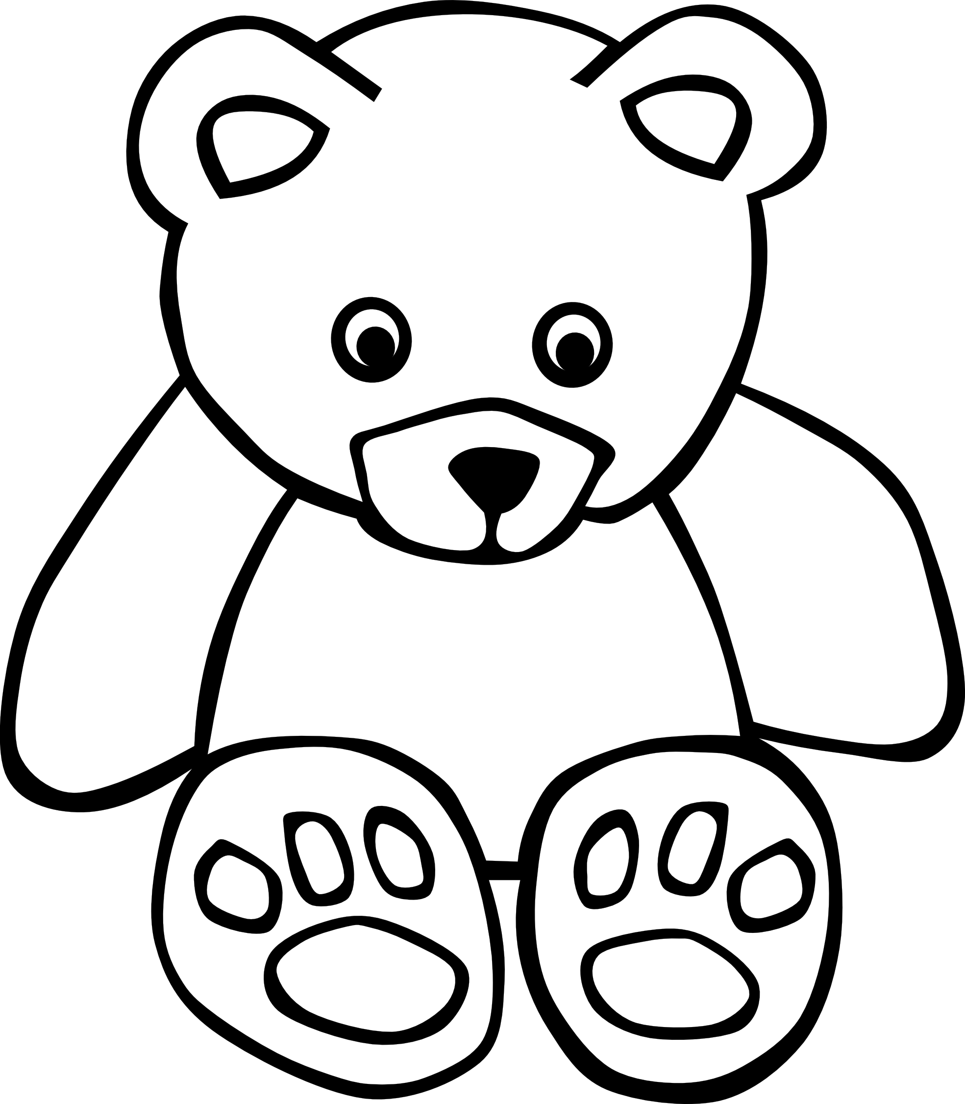 Line Drawing Teddy Bear : Teddy bear line drawing clipart best