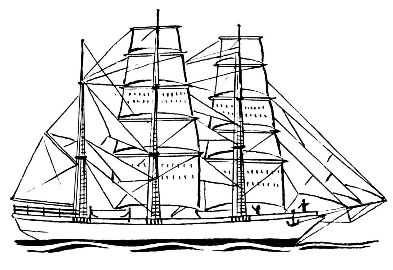 Line Drawing Boat : Sailboat line drawing clipart best