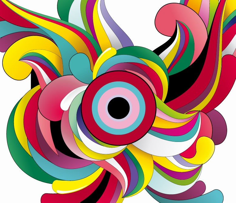 Colorful Abstract Background Vector Garphic Art | Free Vector ...