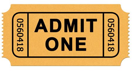 Show Ticket Template ClipArt Best – Show Ticket Template