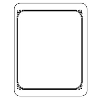 Bookplates & Book Platelets - Laser & Inkjet Bookplates - Frame 150/