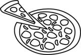 Clip Art Pizza Clipart Black And White pizza clipart black and white best free images