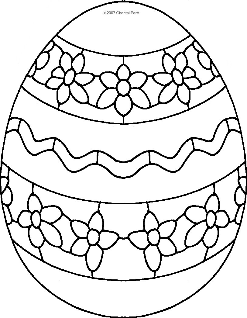 Easter Egg To Colour   ClipArt Best