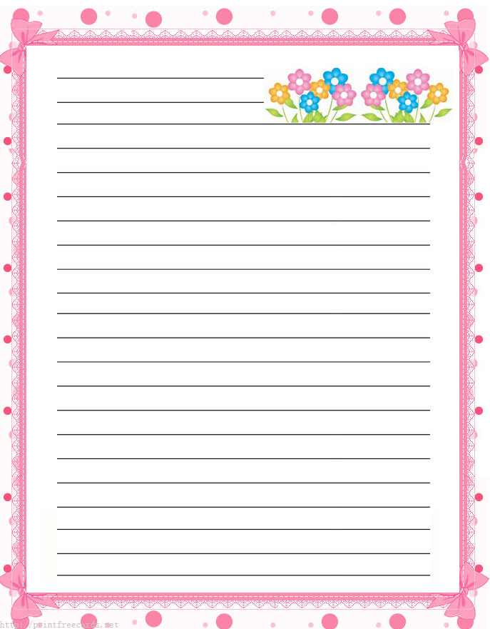 Printable Writing Paper With Border - ClipArt Best