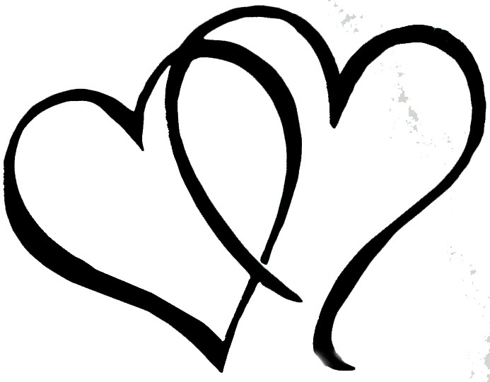 Line Art Heart Outline : Love heart line drawing clipart best