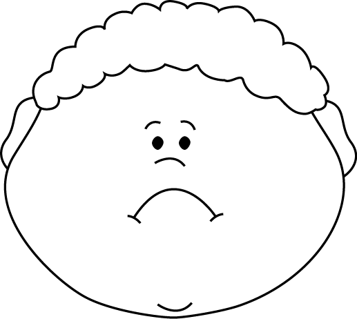Clip Art Sad Face Black And White - ClipArt Best