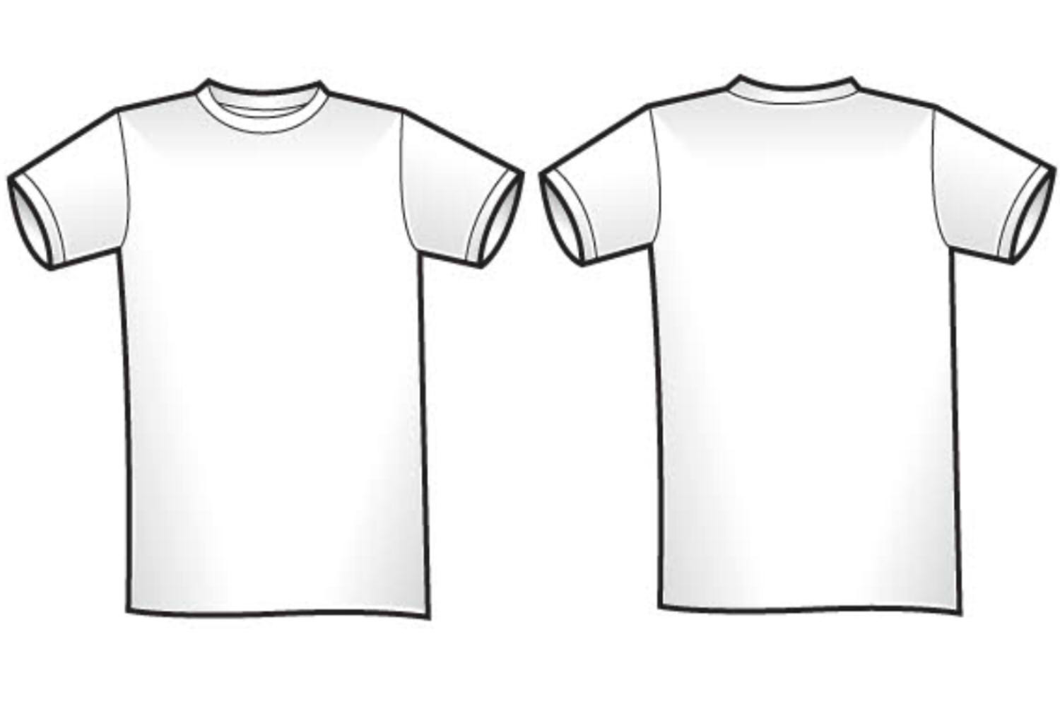 White t shirt for design clipart best for Blank t shirt design template