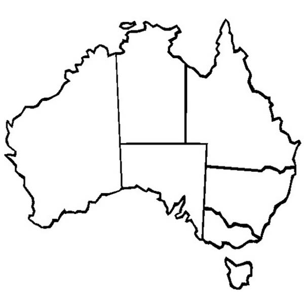 australia continent outline map clipart best