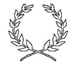 laurel leaf crown template - laurel leaf template clipart best