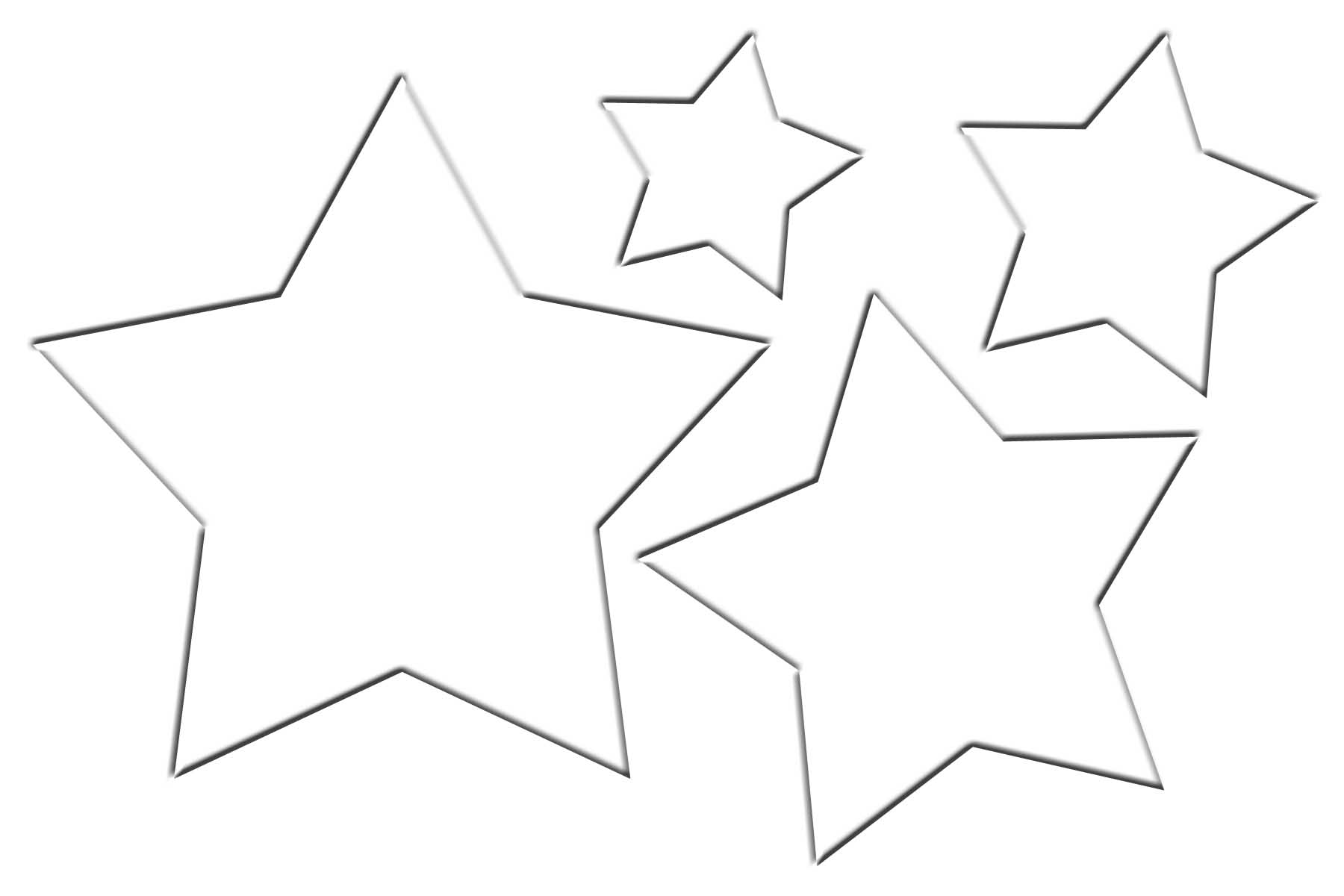 Christmas star template clipart best