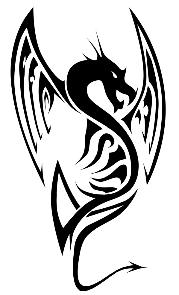Simple Ink Dragon - ClipArt Best