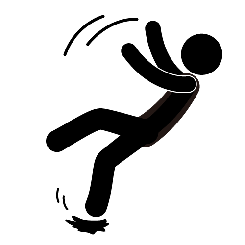 slip and fall clip art free - photo #2