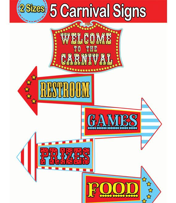 Carnival Signs Template - ClipArt Best