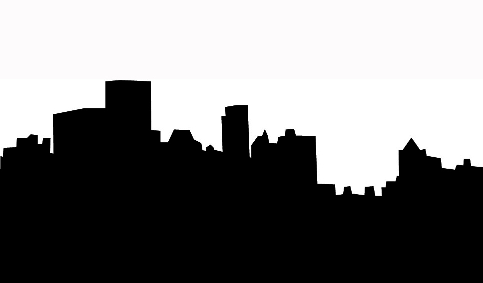 City Skyline Black And White Clip Art - ClipArt Best